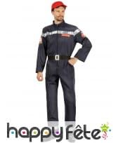 Uniforme bleu de pompier pour homme