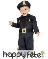 Uniforme de bébé policier