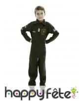 Uniforme de pilote d'avion pour enfant