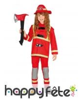 Uniforme de pompier rouge pour enfant