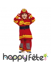 Uniforme de pompier rouge pour tout petit