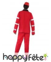 Uniforme rouge de pompier pour ado, image 2