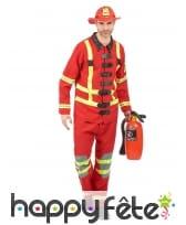 Uniforme rouge de pompier pour adulte