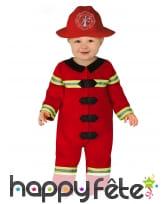 Uniforme rouge de pompier pour bébé