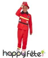 Uniforme rouge de pompier pour enfant