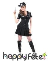 Uniforme robe noire de femme shérif, image 3