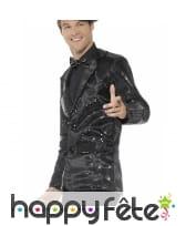 Veste à sequins noirs pour homme, image 2