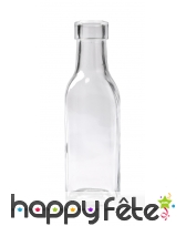 Vase bouteille carrée en verre de 5x15 cm