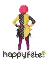 Veste de clown avec gros noeud multicolore, femme, image 1