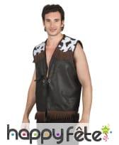 Veste de cow-boy sans manches pour homme