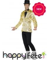 Veste dorée de cabaret, pour homme, image 2