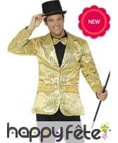 Veste dorée de cabaret, pour homme