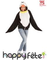 Veste de pingouin à capuche pour adulte, image 1