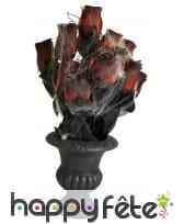 Vase de roses pour halloween