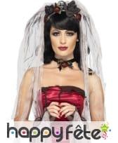 Voile et gants de mariée gothique