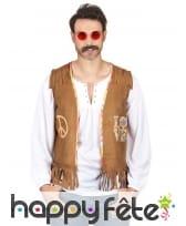 Veste marron de hippie pour homme