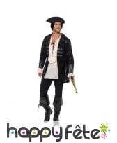 Veste noire de pirate boucanier