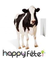 Vache noire et blanche en carton plat