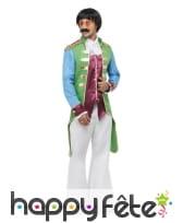 Veste napoléonienne verte et violette pour homme