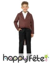 Veste queue de pie marron pour enfant