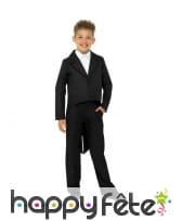 Veste queue de pie noire pour enfant