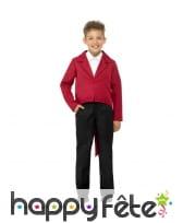 Veste queue de pie rouge pour enfant