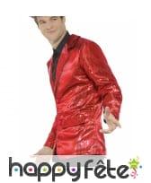 Veste rouge à sequins pour homme, image 2