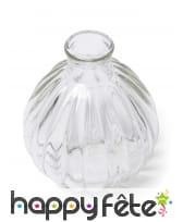 Vase rond rétro en verre de 10cm