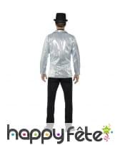 Veste sequins argentés pour homme, image 1