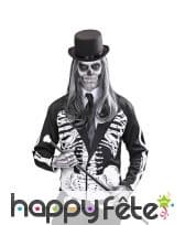 Veste squelette noire et blanche pour adulte