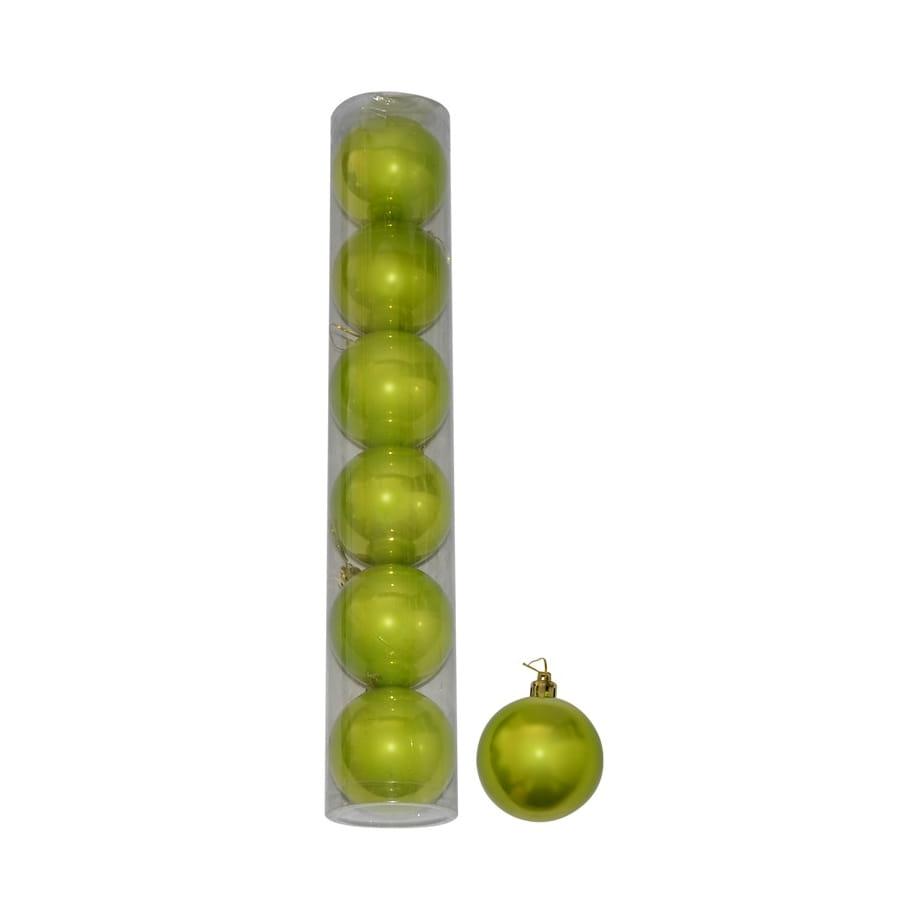 6 boules de no l vertes nacr es de 6 cm. Black Bedroom Furniture Sets. Home Design Ideas