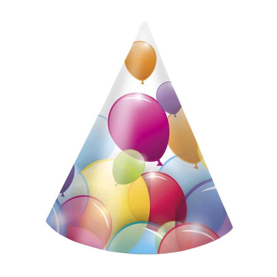 6 chapeaux cotillons recouverts de ballons - Image cotillons fete ...