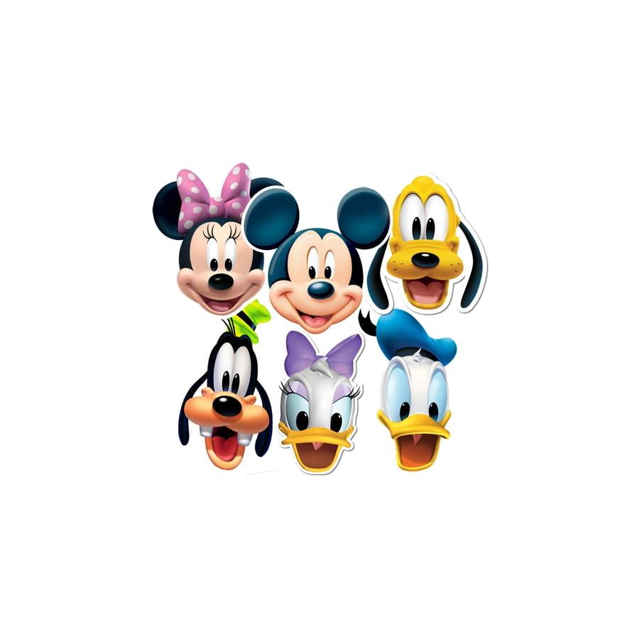 6 masques de mickey et ses amis - Amis de mickey ...
