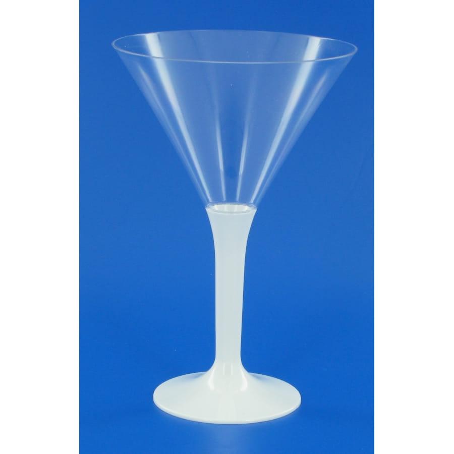 6 verres a cocktail pied blanc. Black Bedroom Furniture Sets. Home Design Ideas