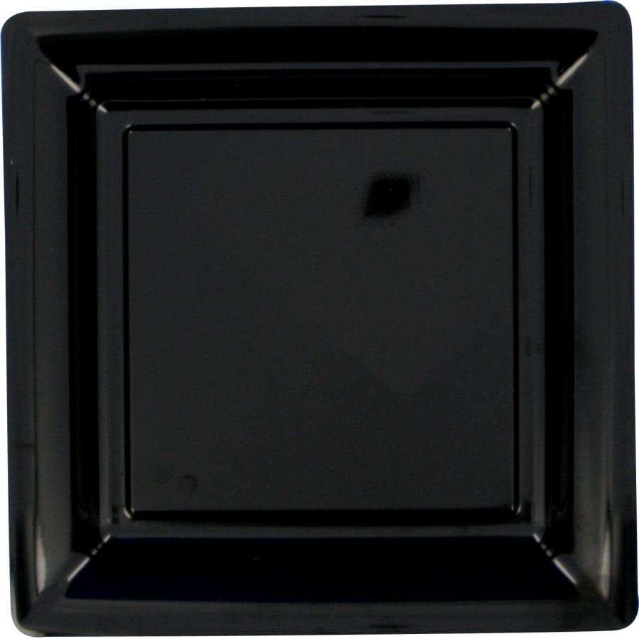 assiette en plastique carr e noir. Black Bedroom Furniture Sets. Home Design Ideas