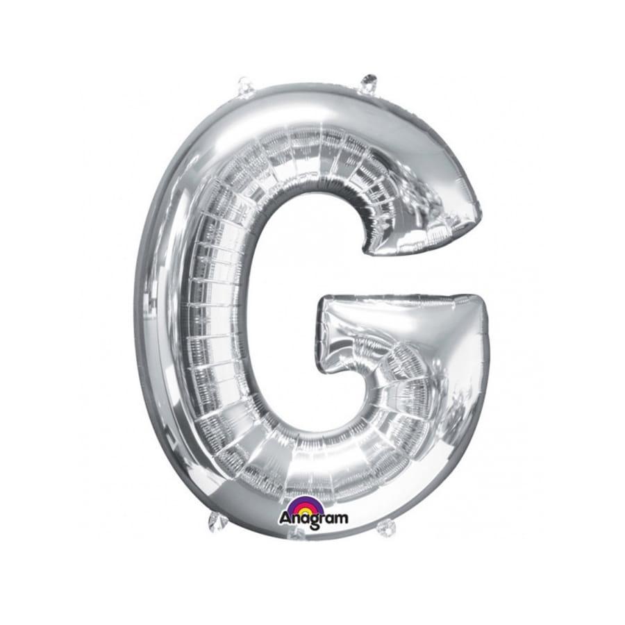 ballon argent u00e9 g u00e9ant en forme de lettre