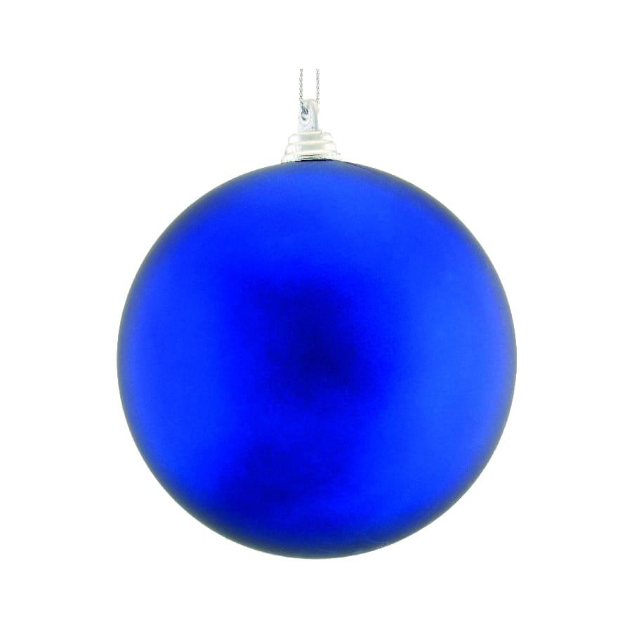 boule bleue de noel 10cm