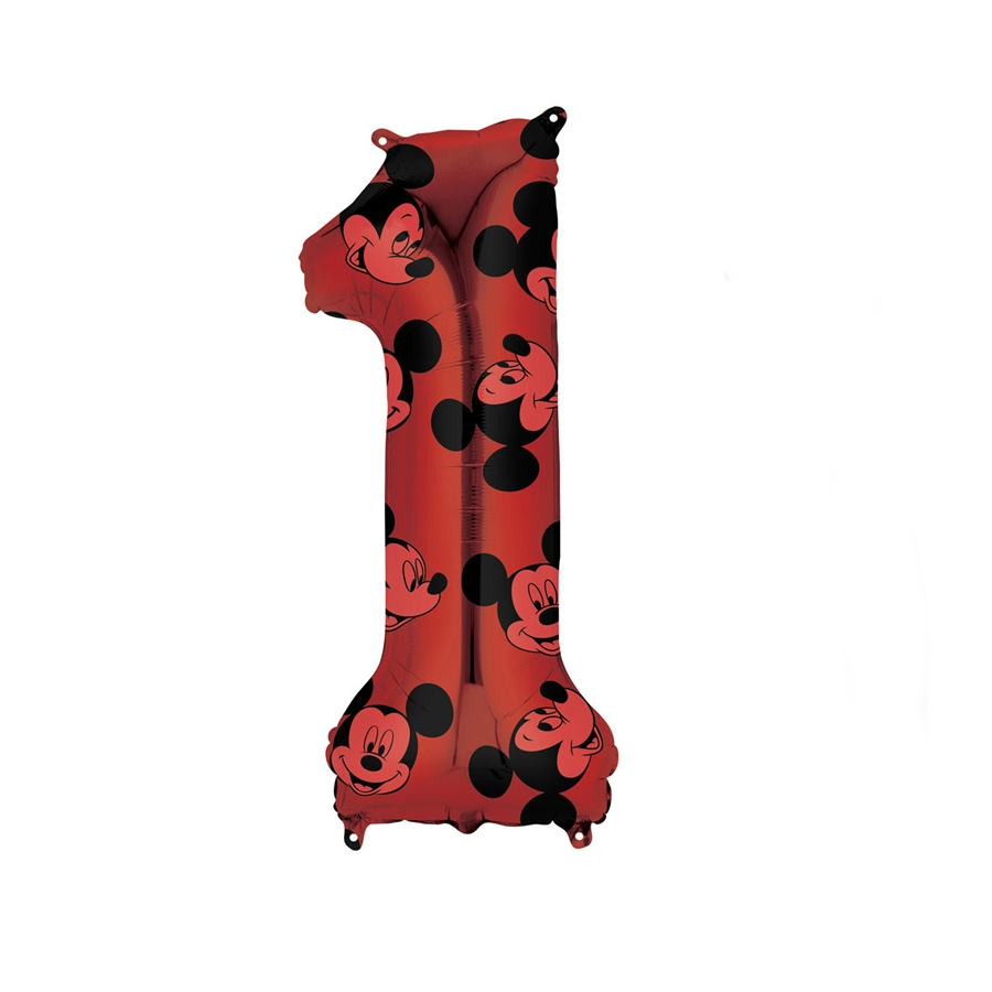 66cm see thru Ballon-free post en uk Mickey Mouse Fête D/'Anniversaire