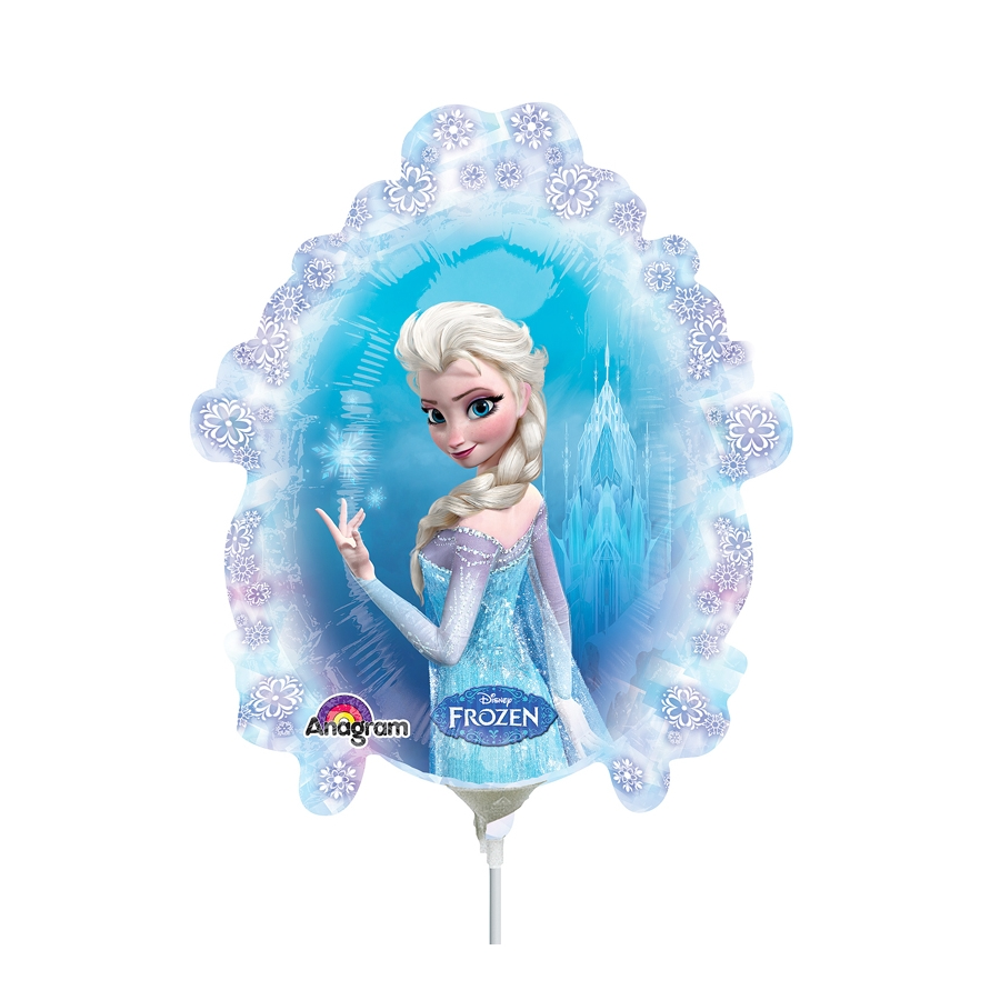 Ballon de elsa la reine des neiges sur tige - Elsa la reine des neige ...