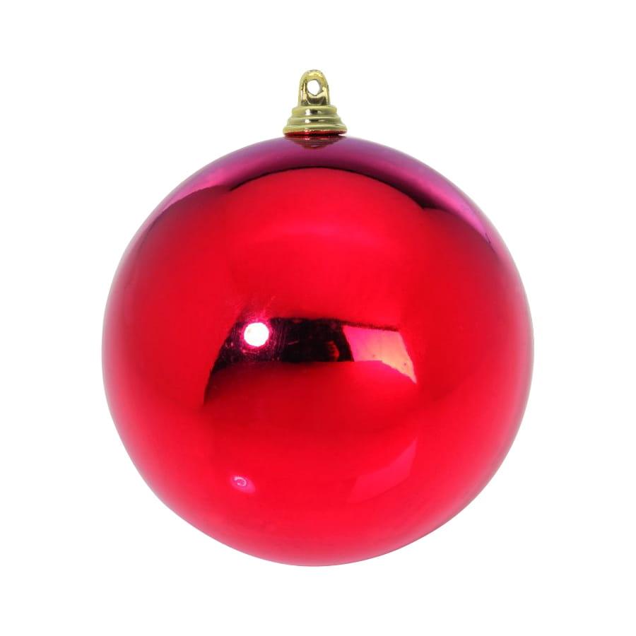 Boule de no l rouge brillant de 14cm for Boule laser noel