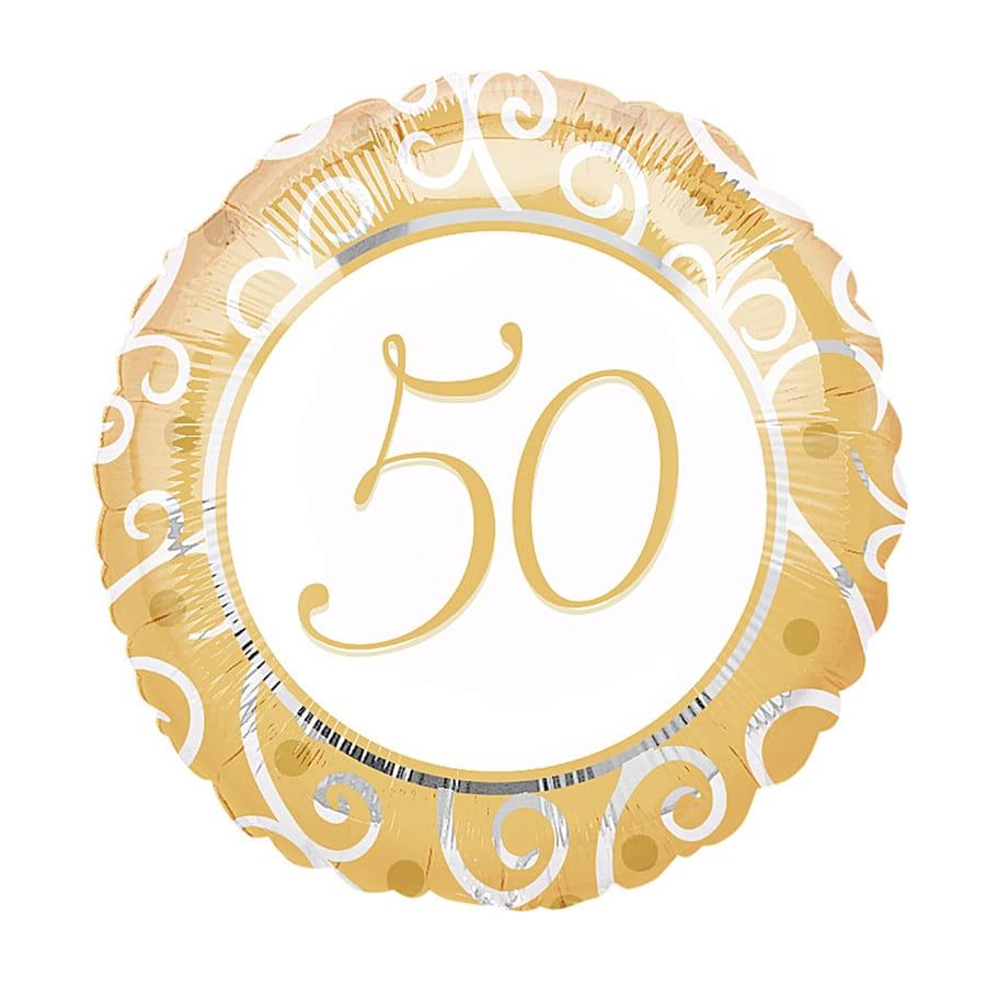 Ballon noce d 39 or 50 ans - Cadeau noce d or ...