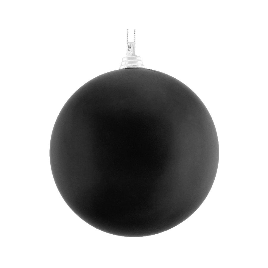 Boule noire de noel 10cm for Suspension boule noire