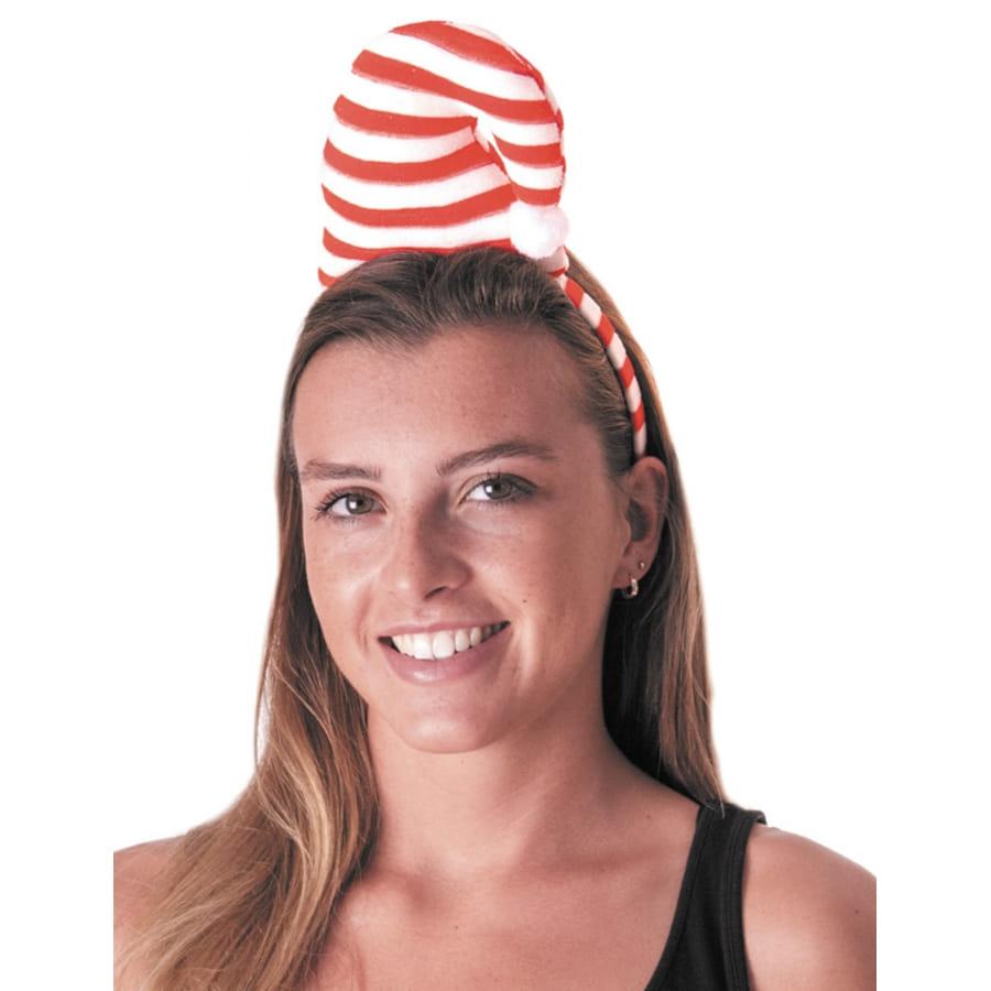 sélectionner pour l'original prix incroyable vendu dans le monde entier Bonnet rayé blanc rouge sur serre tête