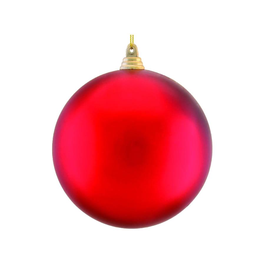 Boule rouge de noel 10cm - Image boule noel ...