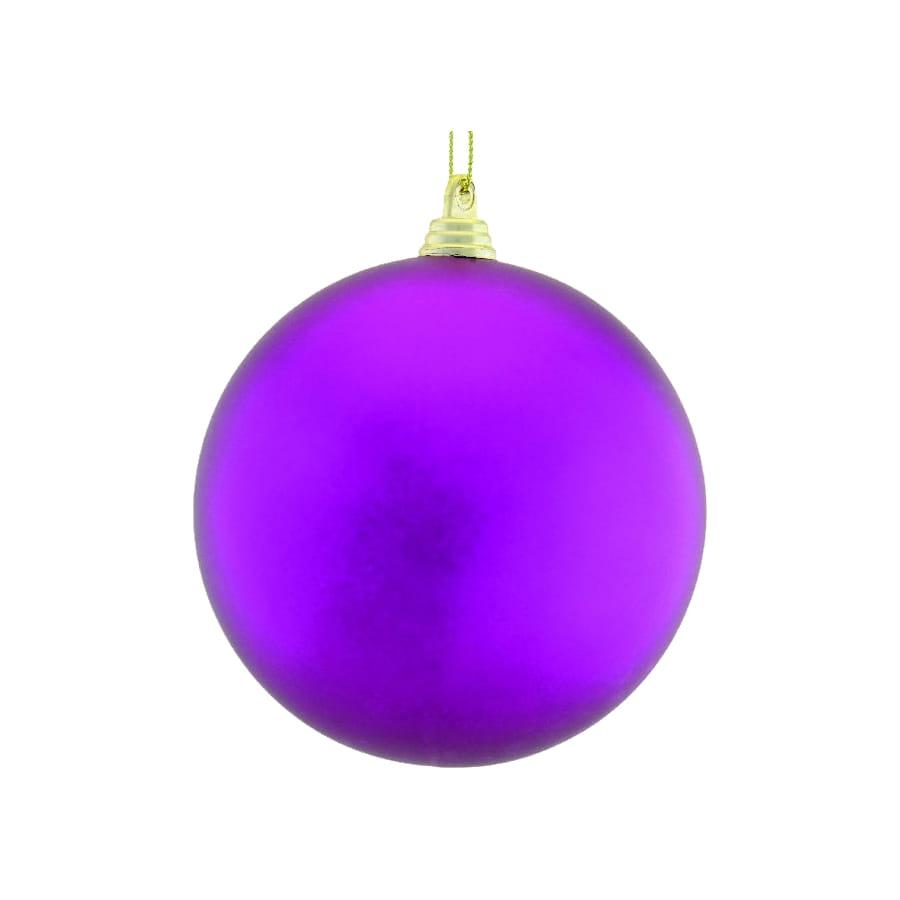 Boule violette de Noel 10cm