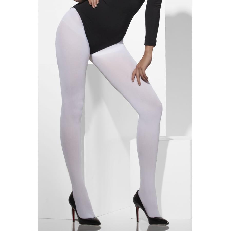 Collants blancs opaques pour adulte d0c8dfec3dc