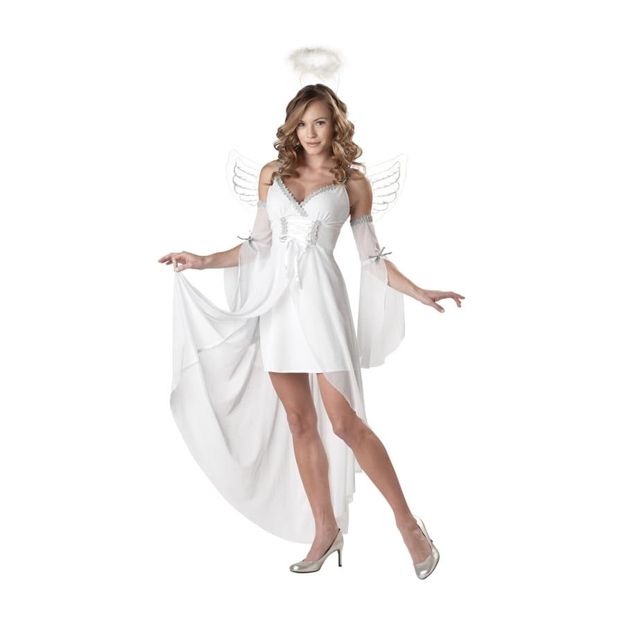 costume d 39 ange blanc avec voiles pour femme. Black Bedroom Furniture Sets. Home Design Ideas