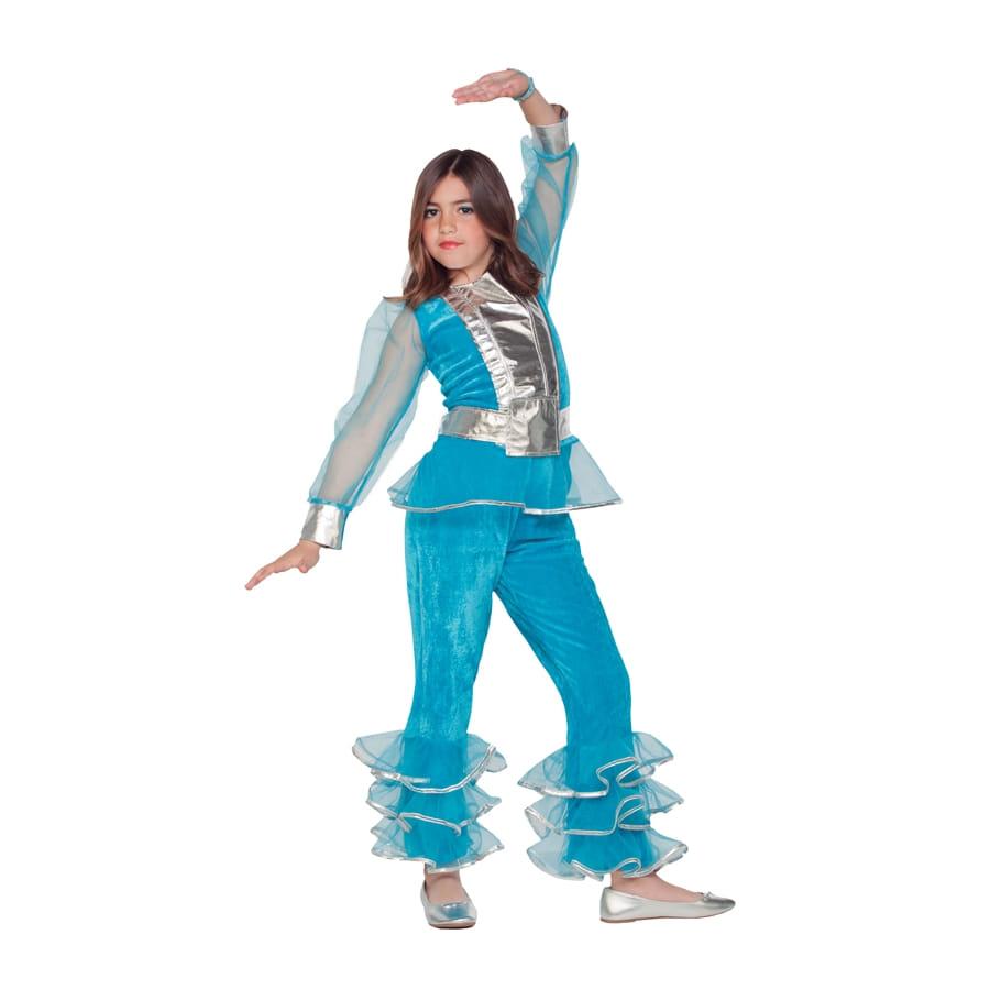 costume disco bleu pour enfant fille. Black Bedroom Furniture Sets. Home Design Ideas