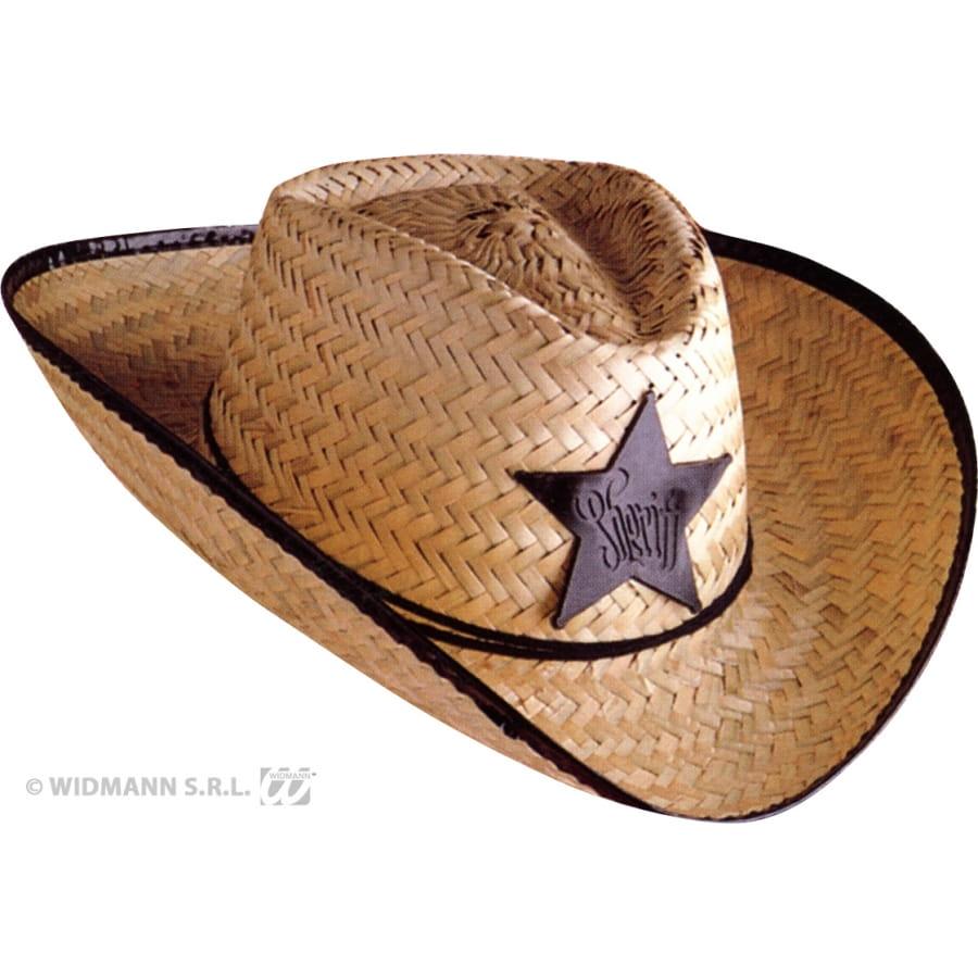 chapeau de cow boy sheriff en paille adulte. Black Bedroom Furniture Sets. Home Design Ideas