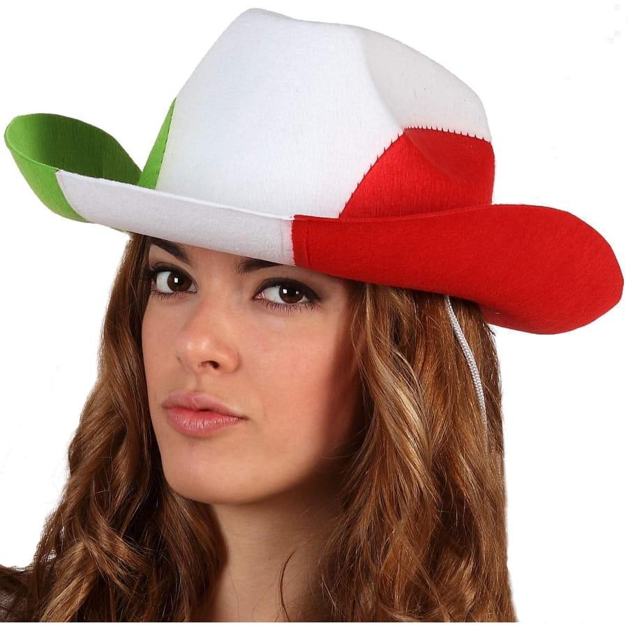 370c90b39b89e Chapeau de cowboy drapeau d'Italie